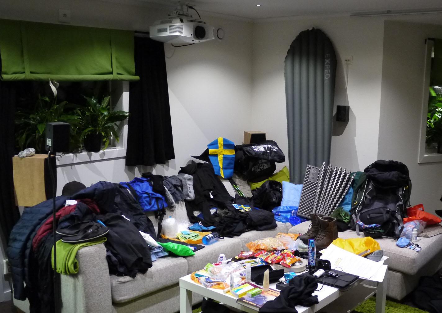 Test av all utrustning inför Kilimanjaro