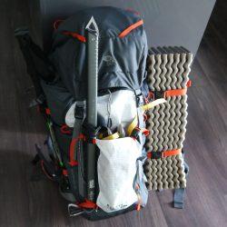 Provpackning av nya ryggsäcken