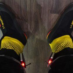 7000-meters skorna moddade för värmesulor