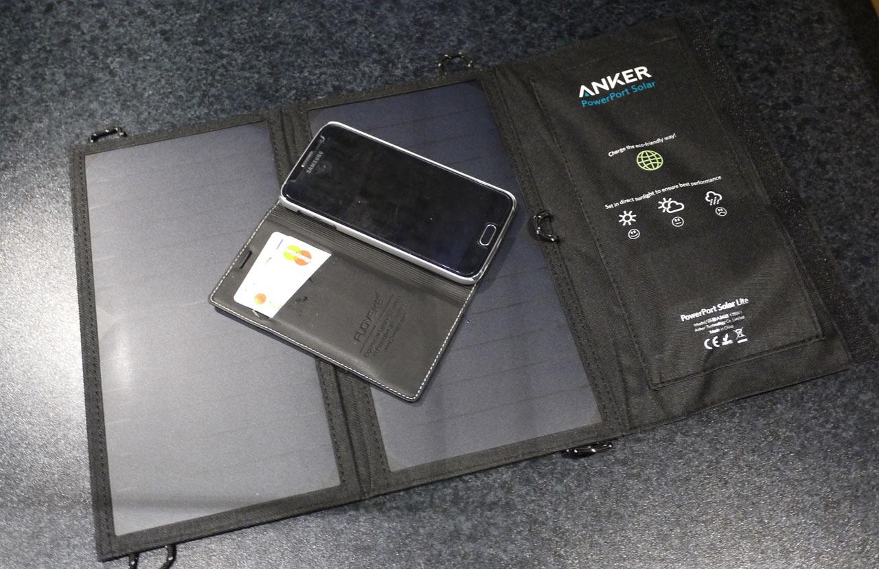 Solcellsladdare: Anker PowerPort Solar Lite