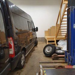 Garage som arbetsplats