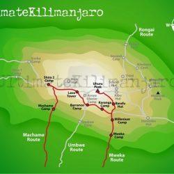Rutt upp på Kilimanjaro (Machame route / whiskey)