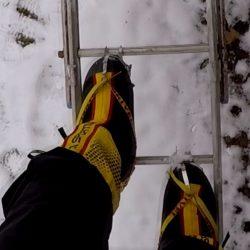 Träning inför isfallet och andra berg med stegar